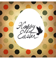 easter polka dot retro card vector image vector image