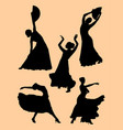 flamenco dancer woman vector image vector image