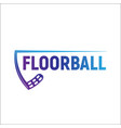 floorball logo for your designs on a white vector image vector image