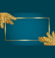 frame for christmas and new year banner template vector image vector image