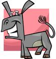 funny donkey cartoon vector image