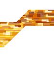 geometric background in orange tones vector image