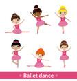 girls doing ballet vector image