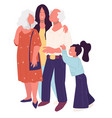 grandparents spending time with family together vector image