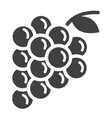 grapes solid icon fruit and vitamin vector image vector image