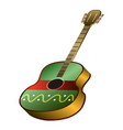 guitar musical instrument vector image