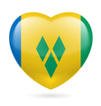 Heart icon of Saint Vincent and the Grenadines vector image vector image