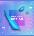 holographic neon background gradient fluid shapes vector image vector image