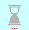 hourglass it is icon vector image