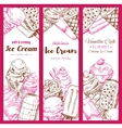 Ice cream frozen desserts banners sketch vector image vector image