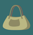icon in flat design fashion clothes ladies handbag vector image vector image