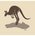 Kangaroo icon australia vector image