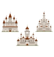Medieval royal castle and palaces vector image