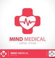 Mind medical symbol icon vector image vector image