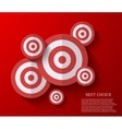modern flat darts background Eps 10 vector image vector image
