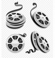 movie video film disks vector image vector image