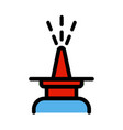 nasal spray simple style color icon vector image vector image