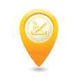 NO smoking MAP pointer yellow vector image vector image