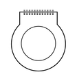 note paper object vector image
