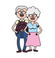 old couple with hairstyle and glasses vector image vector image