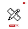 pencil and ruler icon graphic design symbol vector image vector image
