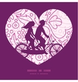 pink flowers lineart couple on tandem bicycle vector image vector image