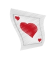 poker playing card gambling drawing vector image