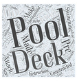 Pool Decks the Perfect Accessory for Aboveground vector image vector image