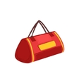 Red Soft Sportive Handbag With Double Handles Item vector image
