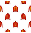 red warm sweater pattern seamless vector image