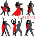 rumba dancers set vector image vector image