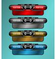 scoreboard sport object vector image vector image