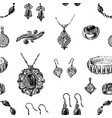 seamless background of various jewelry vector image