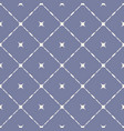seamless pattern with diagonal square grid stars vector image