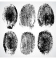 Set of fingerprints vector image