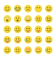 Set of yellow smileys vector image