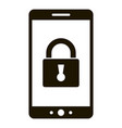 smart lock smartphone icon simple style vector image