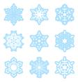 Snowflakes - light blue - set vector image