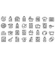 softener icons set outline style vector image vector image