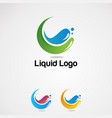 splash liquid colorful logo icon element and vector image