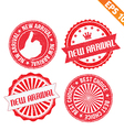 Stamp sticker new product collection - - EP vector image vector image