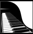 stylized piano keyboard vector image