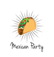 Taco on white background isolated Mexico Food vector image