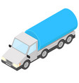 tank truck isometric vector image vector image