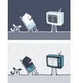 television colored cartoon vector image