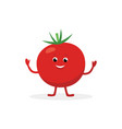 tomato cartoon character isolated on white vector image