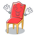 tongue out chair character cartoon collection vector image vector image