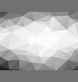 triangles background black and white low poly vector image vector image