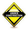 Under construction icon vector image