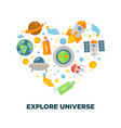 universe exploration and galaxy space research vector image vector image